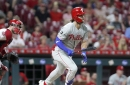 Bryce Harper picks up mythical moneytastic 100th RBI of the season as Phillies thump Reds 6-2