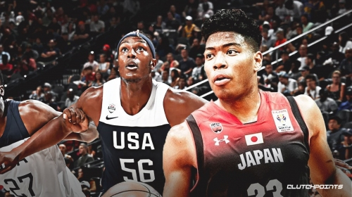 Video: Rui Hachimura posterizes Myles Turner in Japan's loss to Team USA