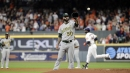 Mike Fiers' win streak snaps, Astros rout Athletics in historic home run frenzy