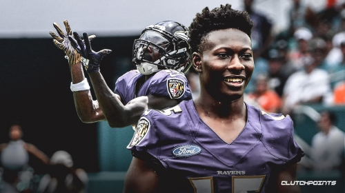 Ravens rookie WR Marquise Brown questionable for Week 2 against Cardinals