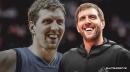 Dirk Nowitzki, Dwight Powell trade jokes about new Dirk logo on Mavs court