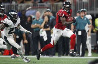 Jones scores late TD, leads Falcons past Eagles 24-20