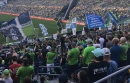 Sounders supporters group walks out to protest ejection of leader for displaying Iron Front flag