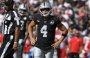 Derek Carr stalls, Raiders offense goes stagnant and brutal road stretch awaits