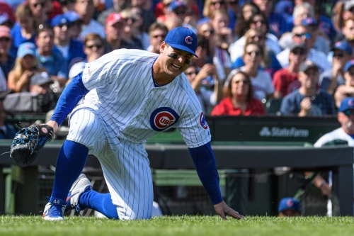 """Anthony Rizzo has a """"moderate"""" ankle sprain"""