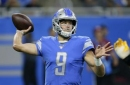 Lions sign QB Driskel to back up Stafford and cut Johnson