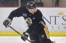 Jon Lizotte went from selling fireworks to turning heads at Penguins training camp