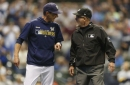 Brewers' bats fail to show up as Padres win, 2-1