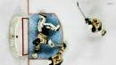 Jaroslav Halak sprawls to rob Morgan Frost of first goal