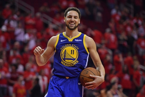 Klay Thompson's ACL looks just fine dancing with Spider-Man star after Euro trip