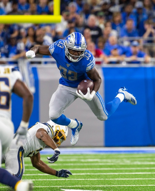 Kerryon Johnson on Detroit Lions' run game unevenness: 'It's all stuff we can fix'