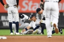 Gleyber Torres going for MRI on right leg after leaving Yankees game vs. Blue Jays