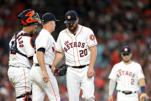 Another first inning Miley fail dooms Astros. Fall to Angels 8-4.