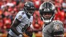 Ravens' Lamar Jackson evades multiple Chiefs defenders for spinning TD