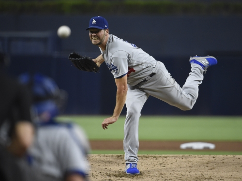Rich Hill marks his return with gutsy performance in Dodgers' win over Padres