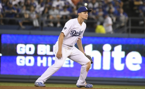 Corey Seager makes an early exit in Dodgers' win over Padres