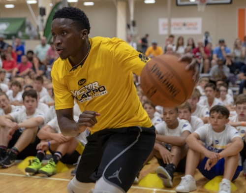 Victor Oladipo 'looks like he never left,' takes first step as Pacers open training camp