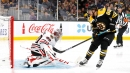 Pastrnak, DeBrusk help Bruins rout Blackhawks split squad