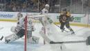 Bruins' Jake DeBrusk pulls off backhand snipe vs. Blackhawks