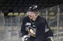 Sidney Crosby back at practice, lines for regular season opener in focus