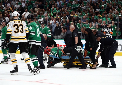 Dallas Stars Roman Polak Stretchered Off, Among Other Injuries