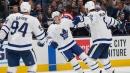 Mitch Marner scores twice, Maple Leafs beat Blue Jackets