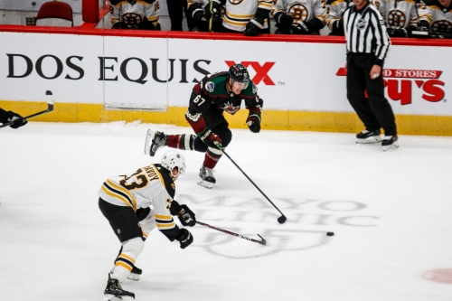 Coyotes fall to Bruins with challenging October schedule ahead