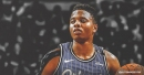 Markelle Fultz reacts to his first game back since suffering shoulder injury