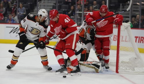 Detroit Red Wings suffer first loss after Anaheim Ducks' late goals, 3-1
