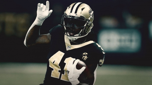 Saints star Alvin Kamara limited in Thursday's practice with ankle injury