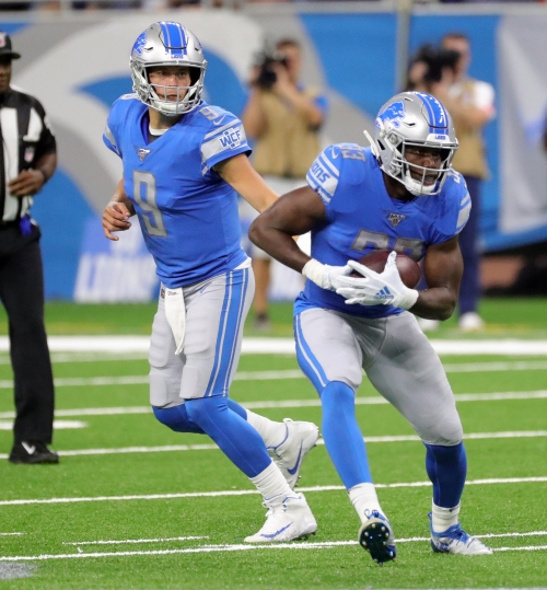 Detroit Lions' Kerryon Johnson bothered by Matthew Stafford parody video