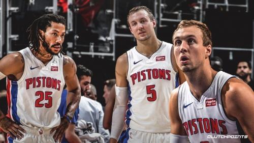 Pistons' Luke Kennard claims 'it's fun' playing with Derrick Rose