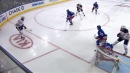 McDavid scores by banking puck off Trouba and into the net