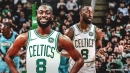 Celtics' Kemba Walker back in the lineup after missing last game with a sore knee
