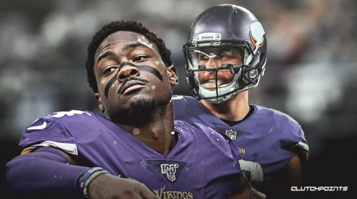 Vikings' Stefon Diggs gets 3 TDs in a game for first time; he and Adam Thielen score 4 TDs for first time