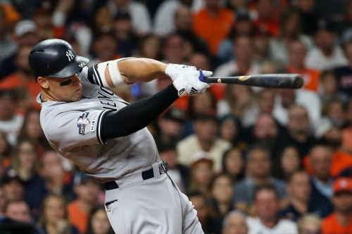 WATCH: Aaron Judge puts Yankees ahead of Astros in Game 2 of ALCS