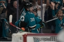 Flames 1, Sharks 3: Top forwards take over
