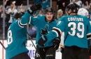 Sharks celebrate Patrick Marleau's homecoming with flame-filled feast