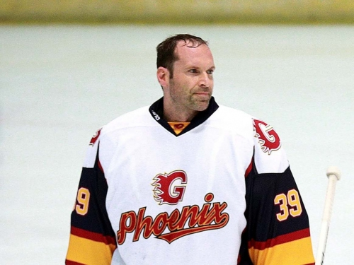 Petr Cech lives 'childhood dream' by saving two penalties as man of the match on ice hockey debut for Guildford Phoenix