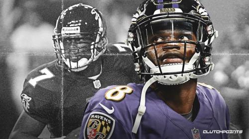 Ravens' Lamar Jackson on pace to break Michael Vick's QB rushing record