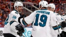Patrick Marleau thanks Sharks fans after emotional homecoming
