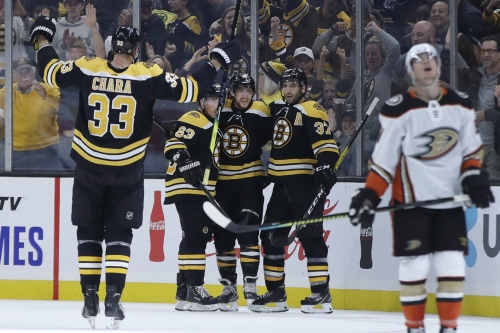 Ducks fall to Bruins, who get four goals from David Pastrnak