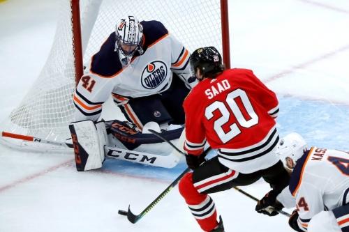 Oilers fall to Hawks, suffer 1st loss of season