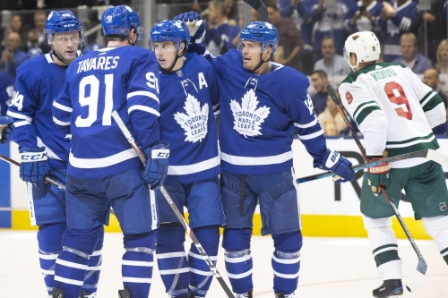 Morgan Rielly's big period carries Maple Leafs past Wild