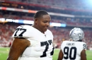 Raiders tackle Trent Brown being sued for domestic violence