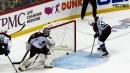 Gabriel Landeskog accidentally knocks puck into own net in overtime