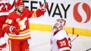 Giordano, Lindholm lead Flames to big win over Red Wings