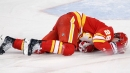 Red Wings' Darren Helm fined $5K for slashing Flames' Elias Lindholm