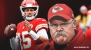 Chiefs' Andy Reid reacts to whether Patrick Mahomes could play in Week 8 vs. Packers