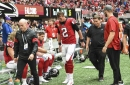 Falcons QB Matt Ryan uncertain for Seahawks game with possible high ankle sprain